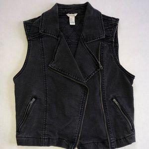 Forever 21 black denim vest